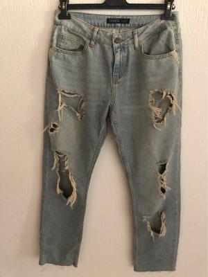 Zara Ripped Jeans 36 Momjeans, Boyfriend
