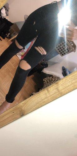 Zara Ripped Jeans in Dunkelgrau XS/34