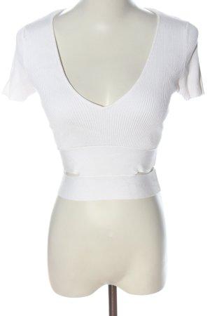 Zara Chemise côtelée blanc style décontracté