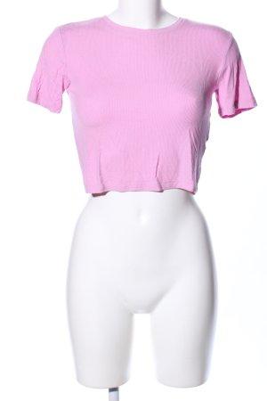 Zara Geribd shirt roze casual uitstraling