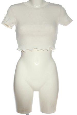 Zara Ribbed Shirt natural white elegant