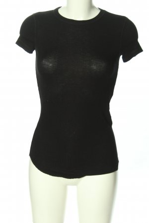 Zara Rippshirt schwarz Casual-Look