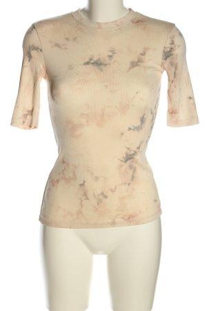 Zara Camisa acanalada crema look casual