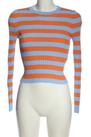 Zara Camisa acanalada naranja claro-turquesa estampado a rayas look casual