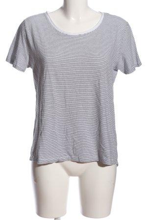 Zara Chemise côtelée gris clair-noir motif rayé style décontracté