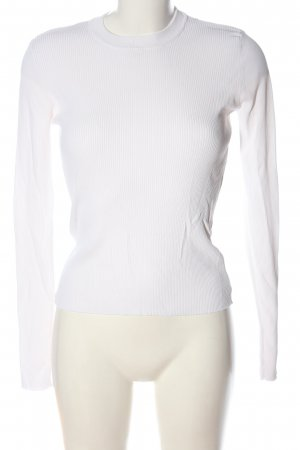 Zara Camisa acanalada blanco look casual