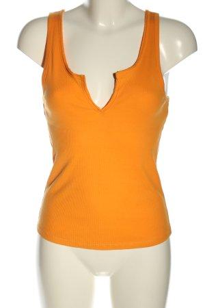 Zara Geribd shirt licht Oranje casual uitstraling