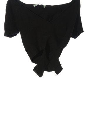 Zara Chemise côtelée noir style décontracté