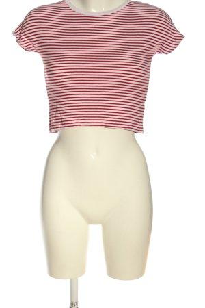 Zara Chemise côtelée blanc-rouge motif rayé élégant