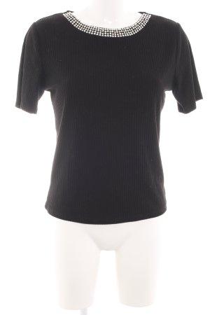 Zara Camisa acanalada negro look casual