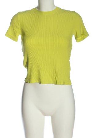 Zara Chemise côtelée jaune primevère style décontracté