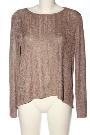 Zara Camisa acanalada color bronce look casual