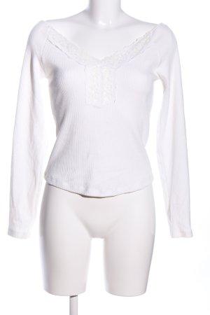 Zara Ribbed Shirt white casual look