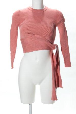 Zara Geribd shirt nude casual uitstraling