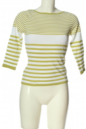Zara Ribbed Shirt white-green striped pattern casual look