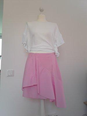 Zara Basic Jupe asymétrique rose coton