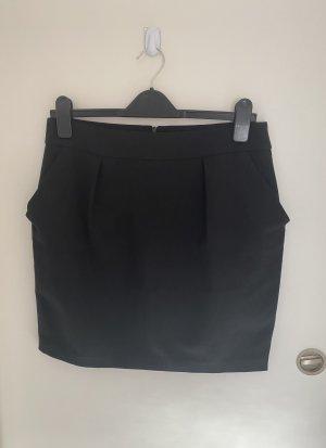 Zara Spódnica w kształcie tulipana czarny