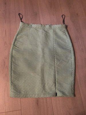 Zara Woman Spódnica midi czarny-turkusowy