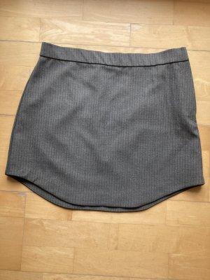 Zara Asymetryczna spódniczka szary-jasnoszary