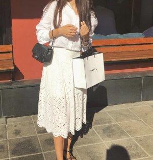 Zara Jupe en dentelle blanc