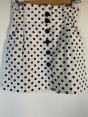 Zara Trafaluc Spódnica w kształcie tulipana biały-ciemnoniebieski