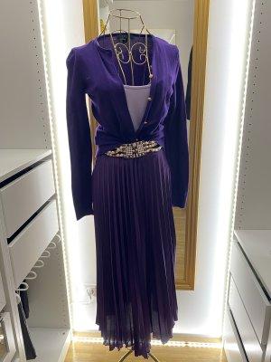 Zara Falda plisada violeta oscuro