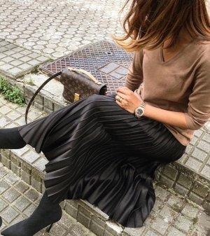Zara Rock boohoo midirock schwarz Blogger XS Plissierter Rock