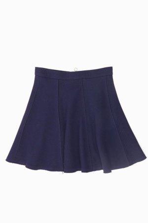 Zara Spódnica midi niebieski-niebieski neonowy-ciemnoniebieski-błękitny
