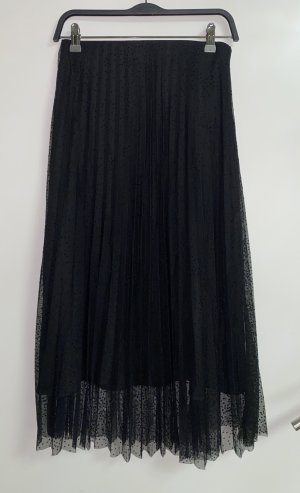 Zara Geplooide rok zwart