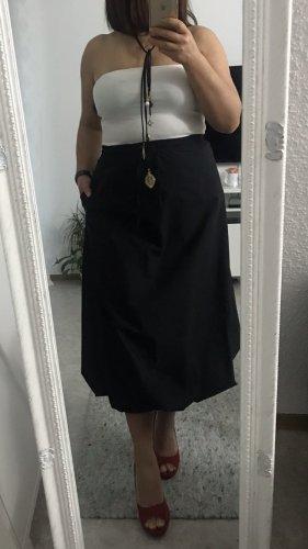 Zara Spódnica midi czarny