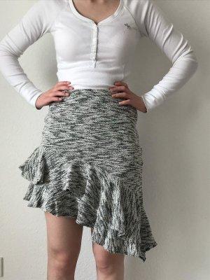 Zara Rock schwarz-weiß-grau Casual-Look