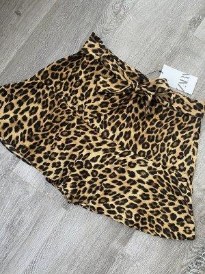Zara Spódnica mini brązowy