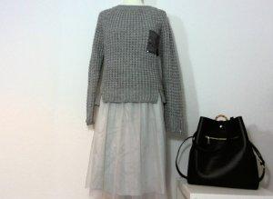 Zara Jupe en taffetas gris clair polyester