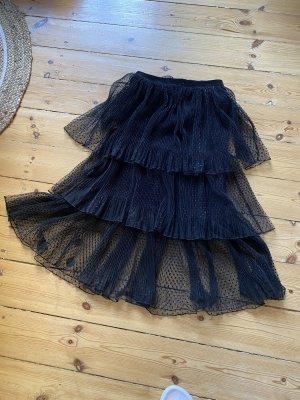 Zara Falda de tul negro