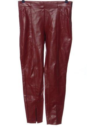 Zara Röhrenhose rot Casual-Look
