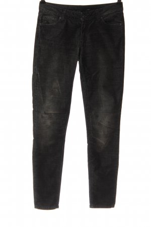 Zara Dopasowane jeansy czarny W stylu casual
