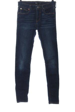 Zara Jeans a sigaretta blu stile casual