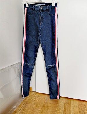 Zara Röhrenjeans dunkel blau mit hoher Dehnbarkeit Gr.36 S