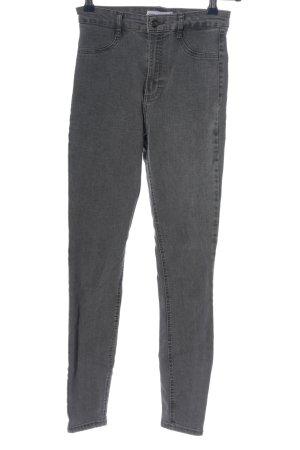 Zara Jeans cigarette gris clair style décontracté