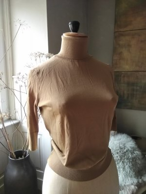 Zara Rolli, Feinstrick, edel, cropped, cognac, NEU inkl. Etikett