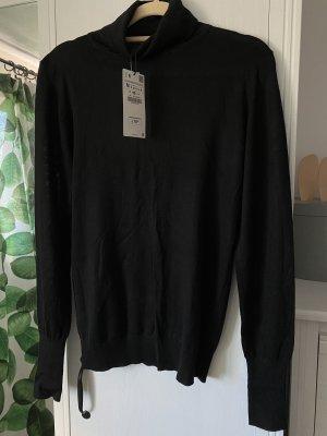 Zara Camisa de cuello de tortuga negro