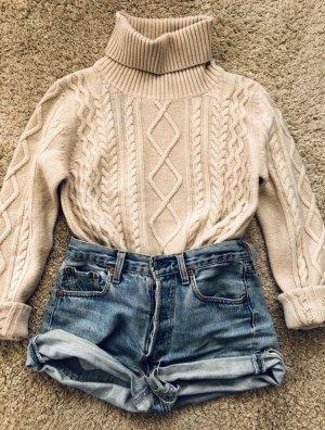 Zara Jersey de cuello alto crema