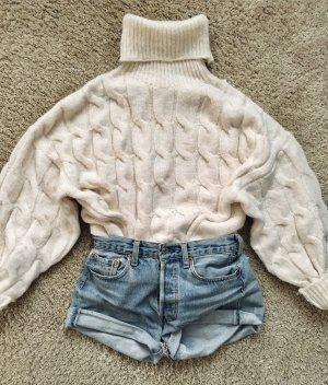 Zara Maglione dolcevita bianco sporco