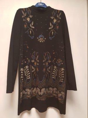 Zara Rollkragen Kleid Shiftdress Vintage schwarz Gr M/38