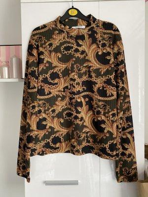 Zara Trafaluc Camisa de cuello de tortuga marrón arena-caqui
