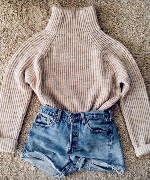 Zara Turtleneck Sweater natural white-cream