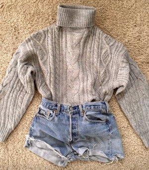 Zara Jersey de cuello alto gris