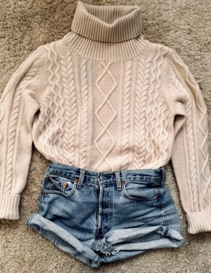 Zara Sweter z golfem jasnobeżowy-kremowy