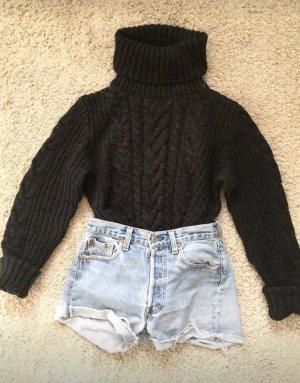 Zara Jersey de cuello alto negro