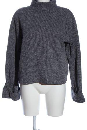 Zara Rollkragenpullover silberfarben meliert Casual-Look
